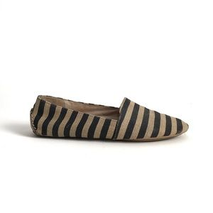 Eileen Fisher Map Striped Canvas Slip Ons